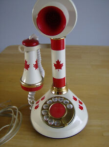 Vintage 1970's Candlestick Rotary Telephone
