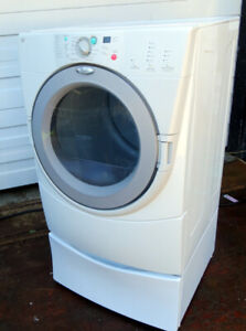 Whirlpool Front Loading Dryer- Very Good condition, with pedesta