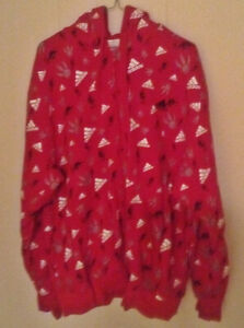 Men's Raptors Adidas Hoodie (Red) XL