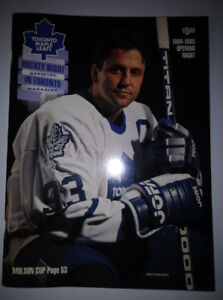 Vintage Toronto Maple Leafs Hockey Night In Toronto Official Mag