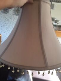 Attractive beaded large lampshade