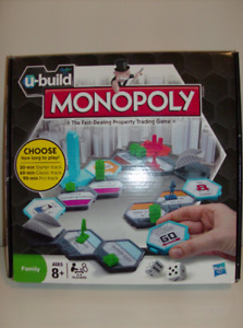NEW Monopoly Game U-Build - all items in sealed packaging