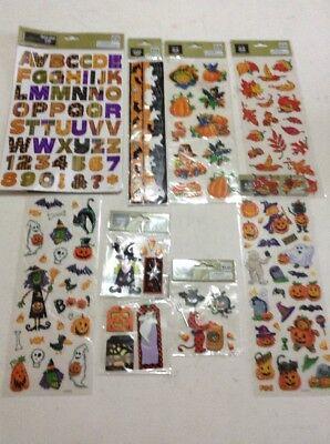 Halloween-scrapbook (Halloween Scrapbook Stickers Lot Of 9)