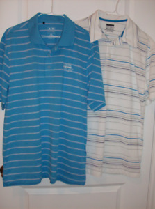 2 NEW Mens Golf Shirts Medium Adidas & Driven + New Golf Balls