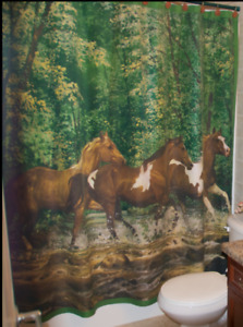 Western shower curtain