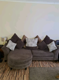 DFS SOFA AND CUDDLE CHAIR