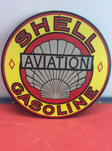 Antiqued Shell Gasoline Aviation Sign