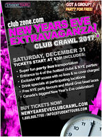 Promotional & Group Leader Positions for NYE Club Crawl!