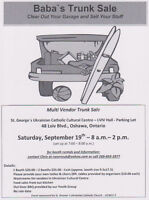 Baba's Trunk Sale - Lviv Hall Parking Lot - St. George's Church