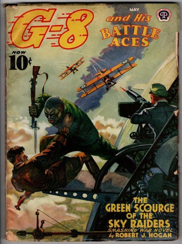"G-8 Battle Aces May 1940 ""The Green Scourge of the Sky Raiders"""