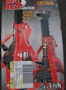 Torin Big Red T43002A Double Locking Steel Jack Stands: 2 Ton Ca