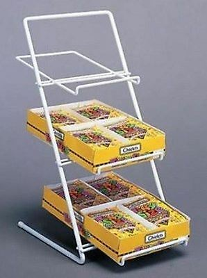 Counter Candy Gum And Snack Display Rack - Slant Back White