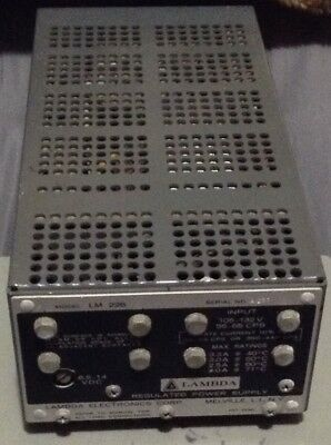 Vintage Lambda Regulated Power Supply Model Lm226 Nos Tested 8.5 To 14 Vdc 3.3a