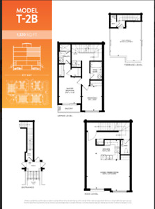 1320+400 Sqft Pickering Townhouse for 499900