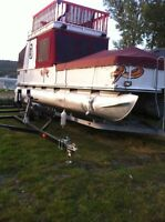 2002 36ft pontoon boat with trailer