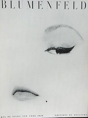 Blumenfeld•Oeil de Biche, New York 1950•Fashion•EYE•24x32 Poster