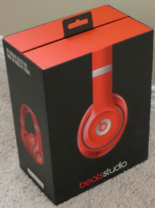 RED Beats by Dr. Dre Studio Over-Ear Noise Cancelling Headphones