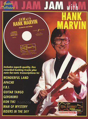 Jam with Hank Marvin The Shadows Guitar TAB Music Book & Play-Along Backing CD
