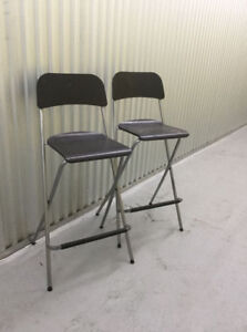 Ikea Foldable bar chairs, very good condition.