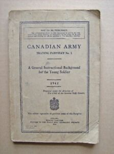 Book.CANADIAN ARMY,TRAINING PAMPHLET # 1 ,1942 + 1962 CAMT 1 1-4