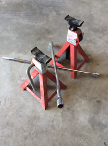 Pair of Car Jacks and Tire Wrench