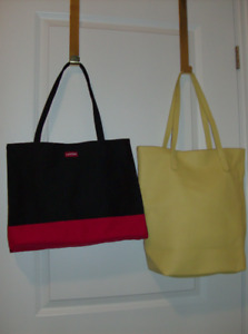 Deal !!  2 Tote Bags - New Lancome + Yellow Leather like tote
