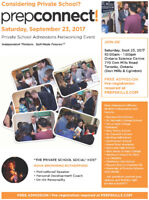 Private School Admissions Networking Event - PrepConnect 2017