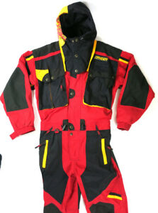 90's Spyder Tommy Moe Red One Piece Ski Snowboard Suit Large