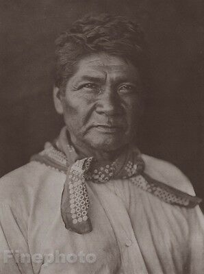 c.1900/72 Photo Gravure NATIVE AMERICAN INDIAN Cahvilla Man EDWARD CURTIS 11x14