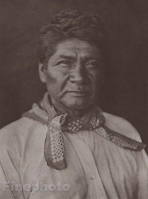 c.1900/72 Photo Gravure NATIVE AMERICAN INDIAN Cahvilla Man EDWARD CURTIS 11x14