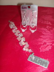 All NEW - Bracelet, Necklace and Pierced Earrings with tags