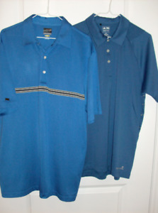 6 Men's Golf Shirts -Adidas, PGA, Holloway & Greg Norman