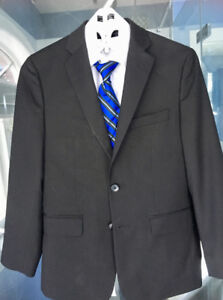 Boys new suit - black - worn once