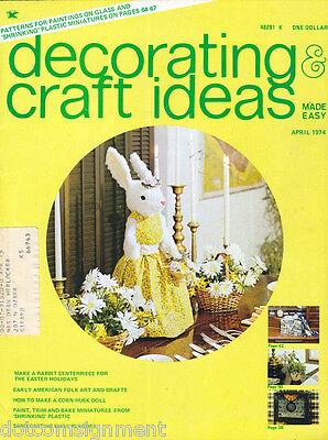 Decorating & Craft Ideas Made Easy Magazine Apr 1974 ~ Multi-Crafts Hip Mod
