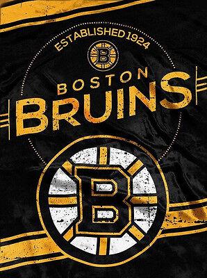 (NHL Boston Bruins Plush Throw Blanket Twin Size 60x80)