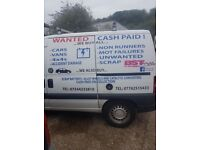 """WANTED ALL CARS, VANS, 4x4's """" CASH PAID """""""