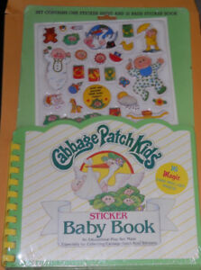 Unopened Cabbage Patch Kids Sticker Book with sheet of stickers