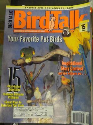 **BIRD TALK MAGAZINE Jan 97 Safety Tips Entertain Parrot Most Popular Species - Most Popular Magazines