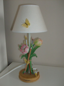 Artist Lamp, Print, New Twin Sheets & Rubbermaid Containers