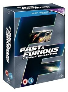 BLU-RAY! FAST AND THE FURIOUS ALL 7 MOVIES BOX SET
