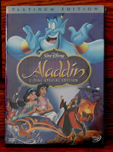 Neuve/Scellés Aladdin de Disney (2 disques DVD)