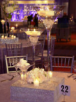 """Martini Vase 20""""x10"""" opening glass centrepiece $16 each"""