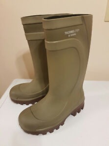 New steel toe rubber work boots