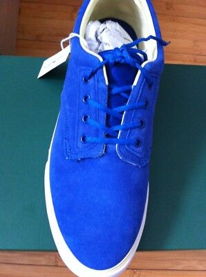 Lacoste Men Light Blue Suede Shoes Size 10 EUR 44.5