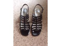Lotus black sandals