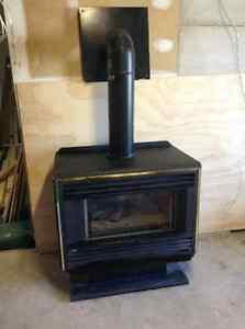 Working gas fireplace