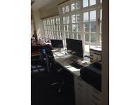 Studio space available in bright art/textiles studio