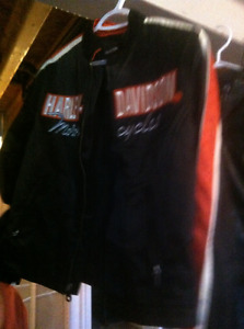 harley davidson jacket, coat chaps and boots