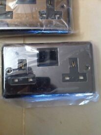 Five new double electrical plug sockets