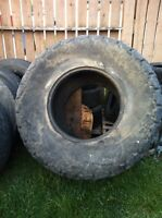 Tractor tire for work out
